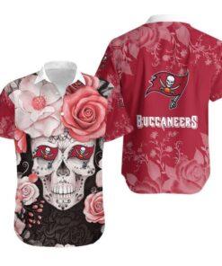 Tampa Bay Buccaneers Skull NFL Gift For Fan Hawaiian Graphic Print Short Sleeve Hawaiian Shirt