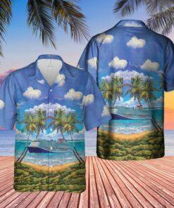 US Cruise Ship Mardi Gras Caribbean Hawaiian Shirt