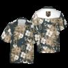 Vegas Golden Knights NHL Hawaii Floral Hawaii Shirt, Fireball Button Hawaiian Shirt