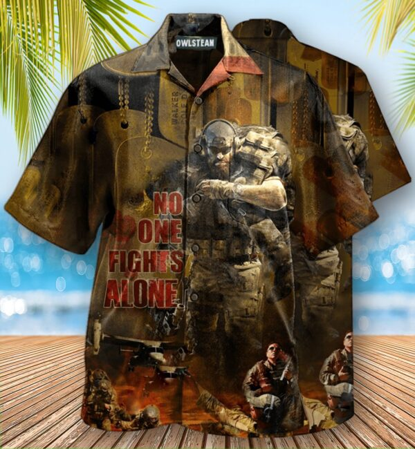 Veteran No One Fights Alone Edition Hawaiian Shirt