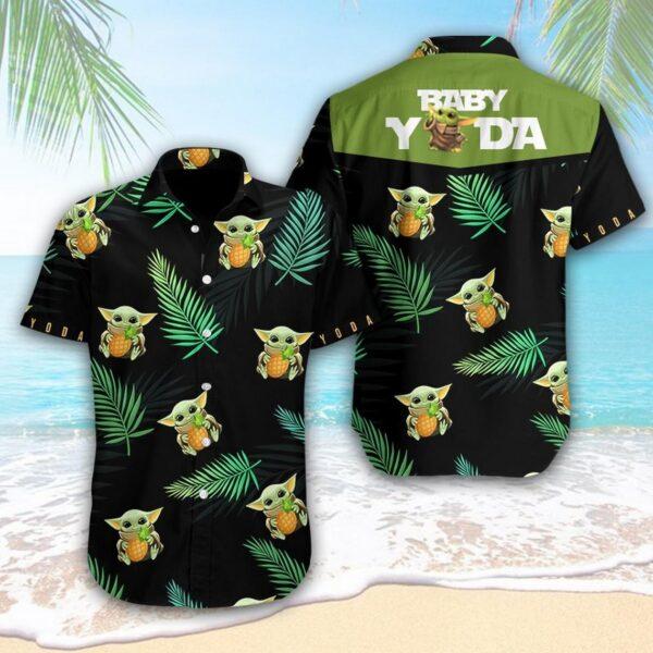 Yoda Pineapple Hawaiian Aloha shirt Yoda Lover Shirt