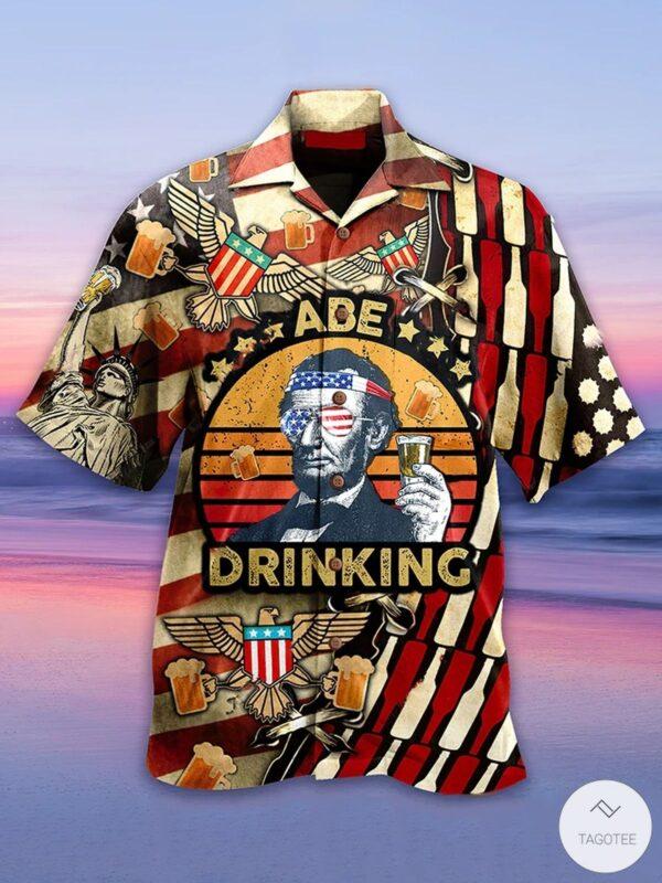 Abe Drinking Hawaiian Shirt