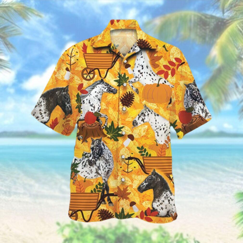 Appaloosa Horse Lovers Orange Nature Autumn Hawaiian Hawaiian Shirt
