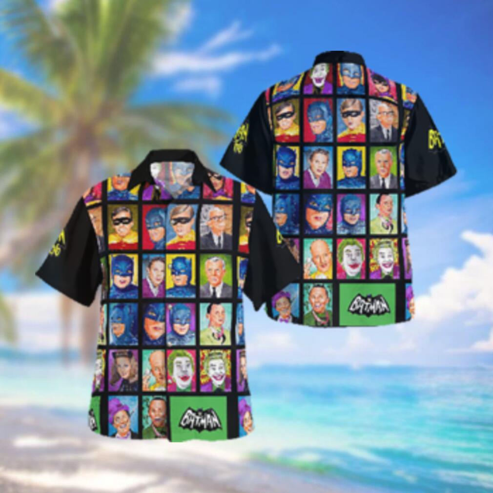 Batman 66 Face Characters Footage Hawaiian Hawaiian Shirt