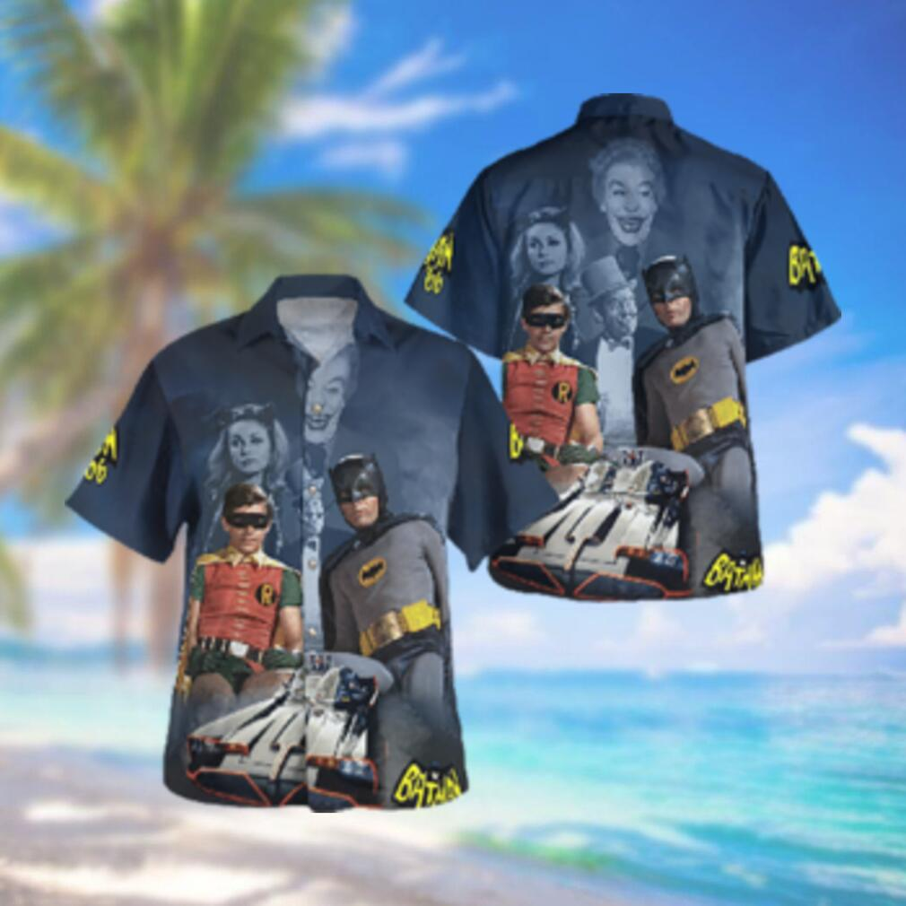Batman and Robin Batcar 1966 Hawaiian Hawaiian Shirt