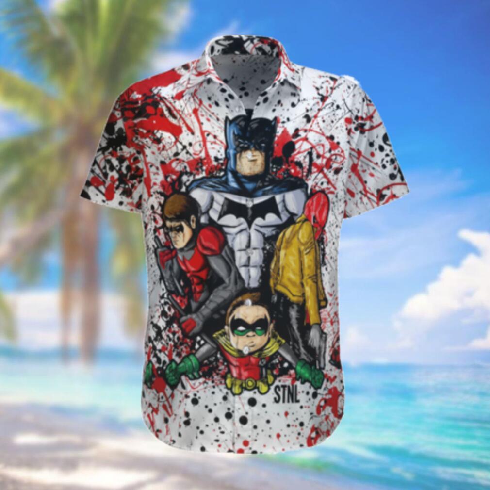 Batman and Robin color paint Hawaiian Shirt