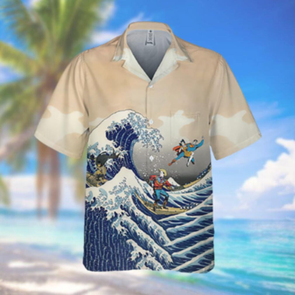 Batman and Superman Beach Surfing Hawaiian Hawaiian Shirt