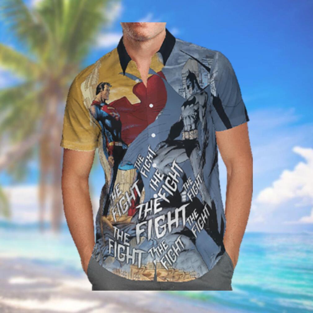 Batman and Superman The Fight Hawaiian Shirt Summer Hawaiian Shirt