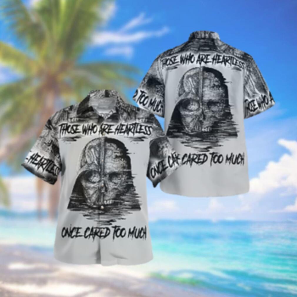 Darth Vader Skull heartless cared too much Hawaiian Hawaiian Shirt