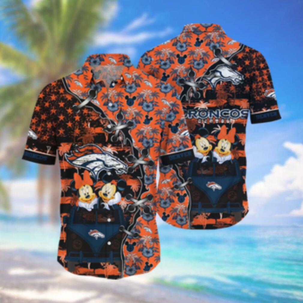 Denver Broncos NFL Hawaii Shirt Style Hot Trending 3D Hawaiian Shirt