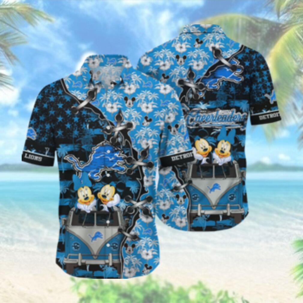 Detroit Lions NFL Hawaii Shirt Style Hot Trending 3D Hawaiian Shirt