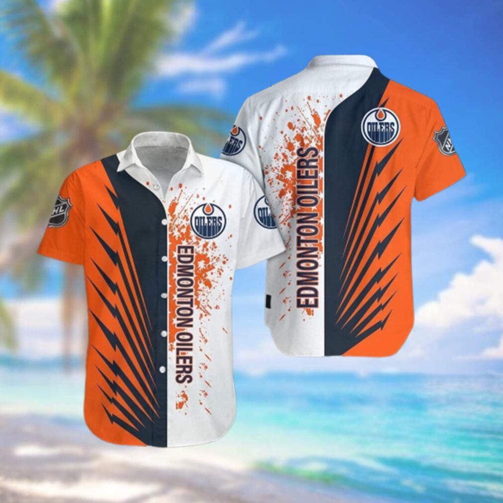Edmonton Oilers Limited Edition Button Down Hawaiian Shirt