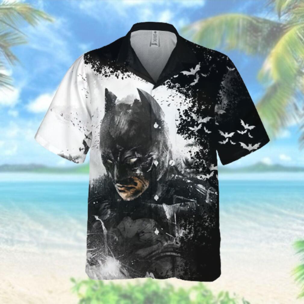 Epic Batman Black White Hawaiian Hawaiian Shirt