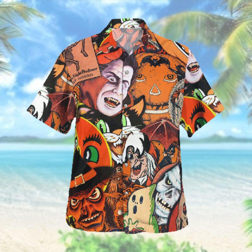 Extremely Hideous Horror Halloween Hawaiian Hawaiian Shirt