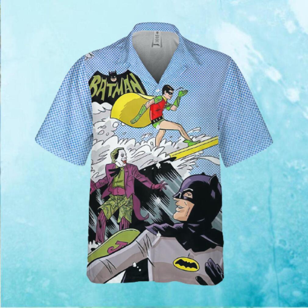 Funny Batman Robin Joker Surfing Hawaiian Hawaiian Shirt