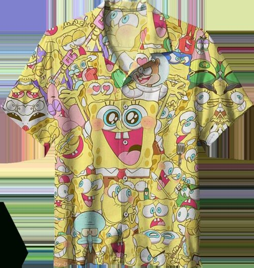 Funny SpongeBob Hawaiian Shirt