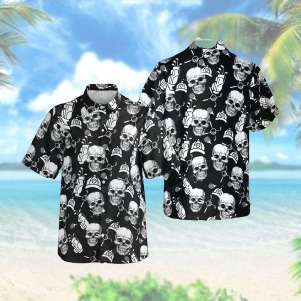 Golf Skull Club Ball Hawaiian Hawaiian Shirt