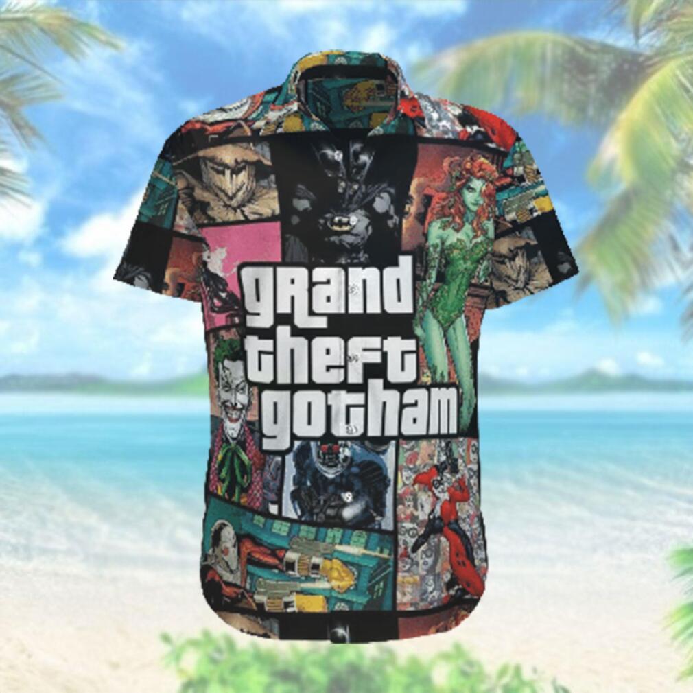Grand theft Gotham Batman Harley Quinn Hawaiian Hawaiian Shirt