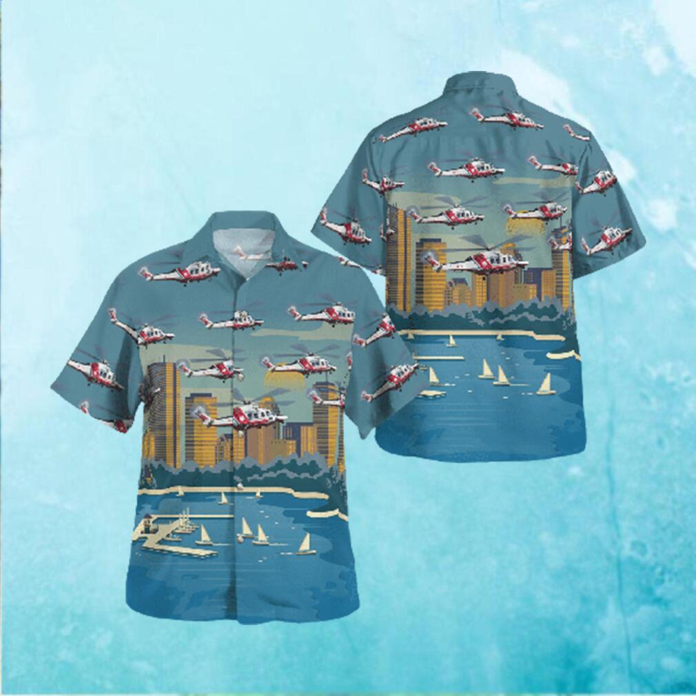 Guardia Costiera AgustaWestland AW139 Hawaiian shirt Servizio Aereo della Hawaiian Shirts