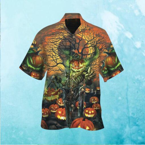 Halloween Moon Night Hawaiian Shirt