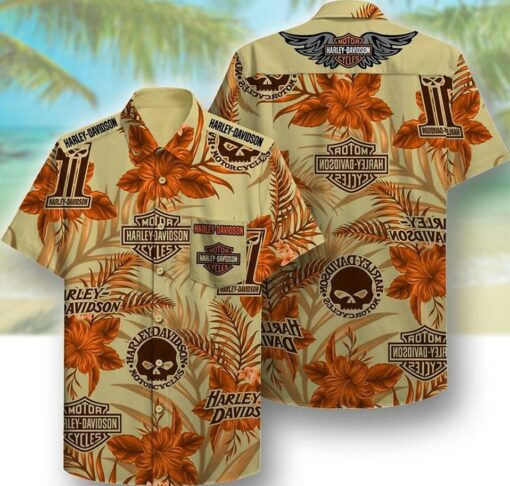 Harley Davidson Hawaii Hawaiian Shirt Fashion Tourism For Hawaiian Shirt