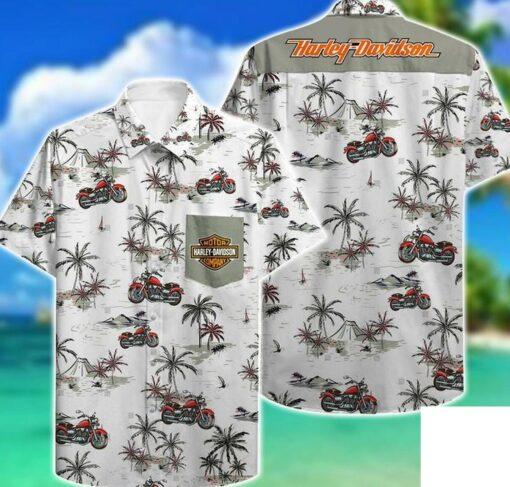Harley Davidson Hawaii Hawaiian Shirt Fashion Tourism For Men