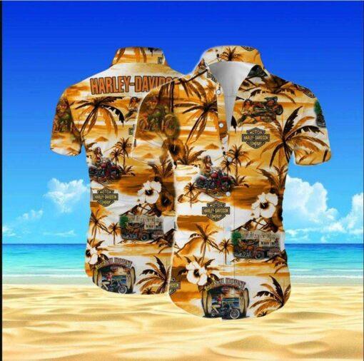 Harley-Davidson Hawaii Hawaiian Shirt Fashion Tourism For Men, Women Shirt