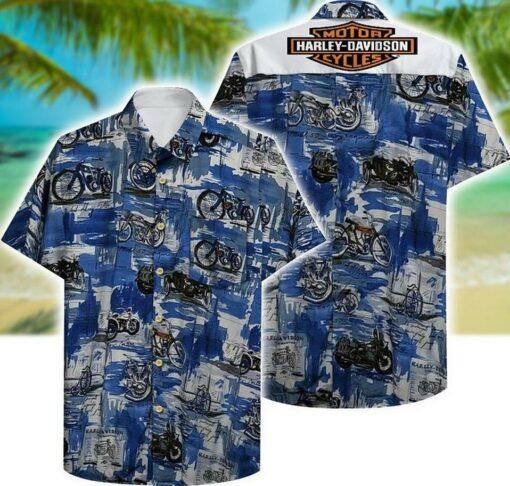 Harley Davidson Hawaii Hawaiian Shirt Fashions