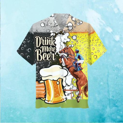 Horse Racing Beer Hawaiian Shirt