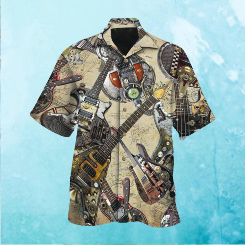 I Love My Steampunk Guitar Hawaiian Hawaiian Shirt