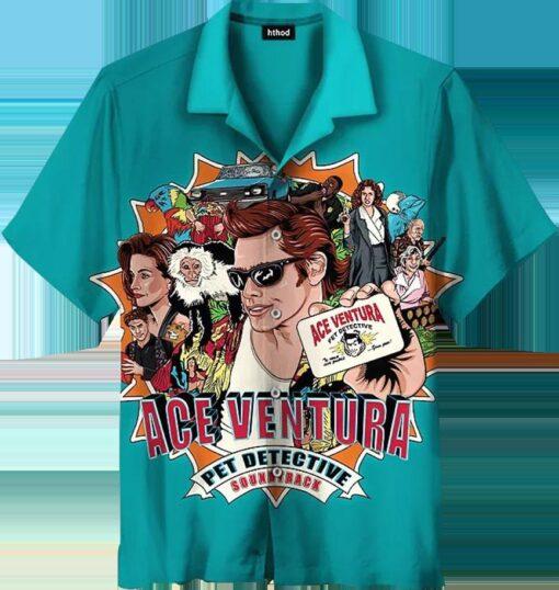 Jim Carrey Airplane Head Hawaiian Shirts