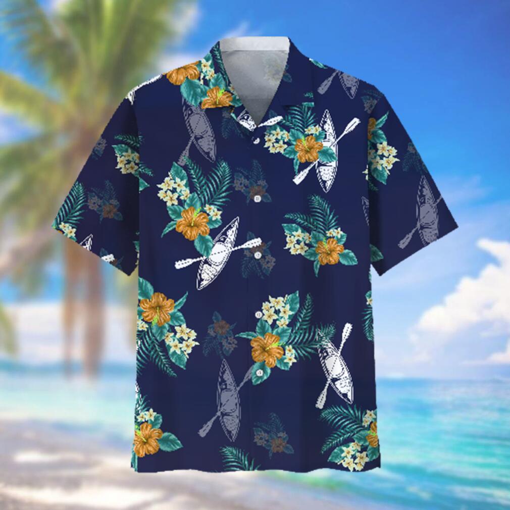Kayaking blue Hawaiian Tropical Hawaiian Shirt