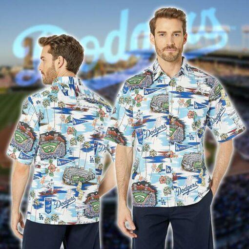 La Dodgers Hawaii Hawaiian Shirt Fashion Tourism For Mens, Women Shirts