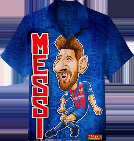 Leo Messi The Goat Hawaiian Shirt