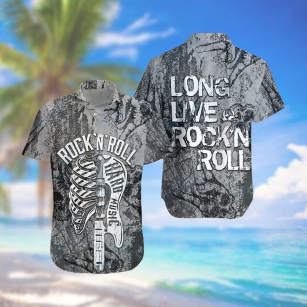 Long Live Rock and Roll Guitar Hawaiian Hawaiian Shirt