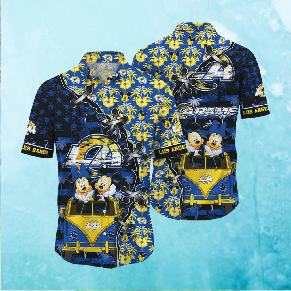 Los Angeles Rams NFL Hawaii Shirt Style Hot Trending 3D Hawaiian Shirt