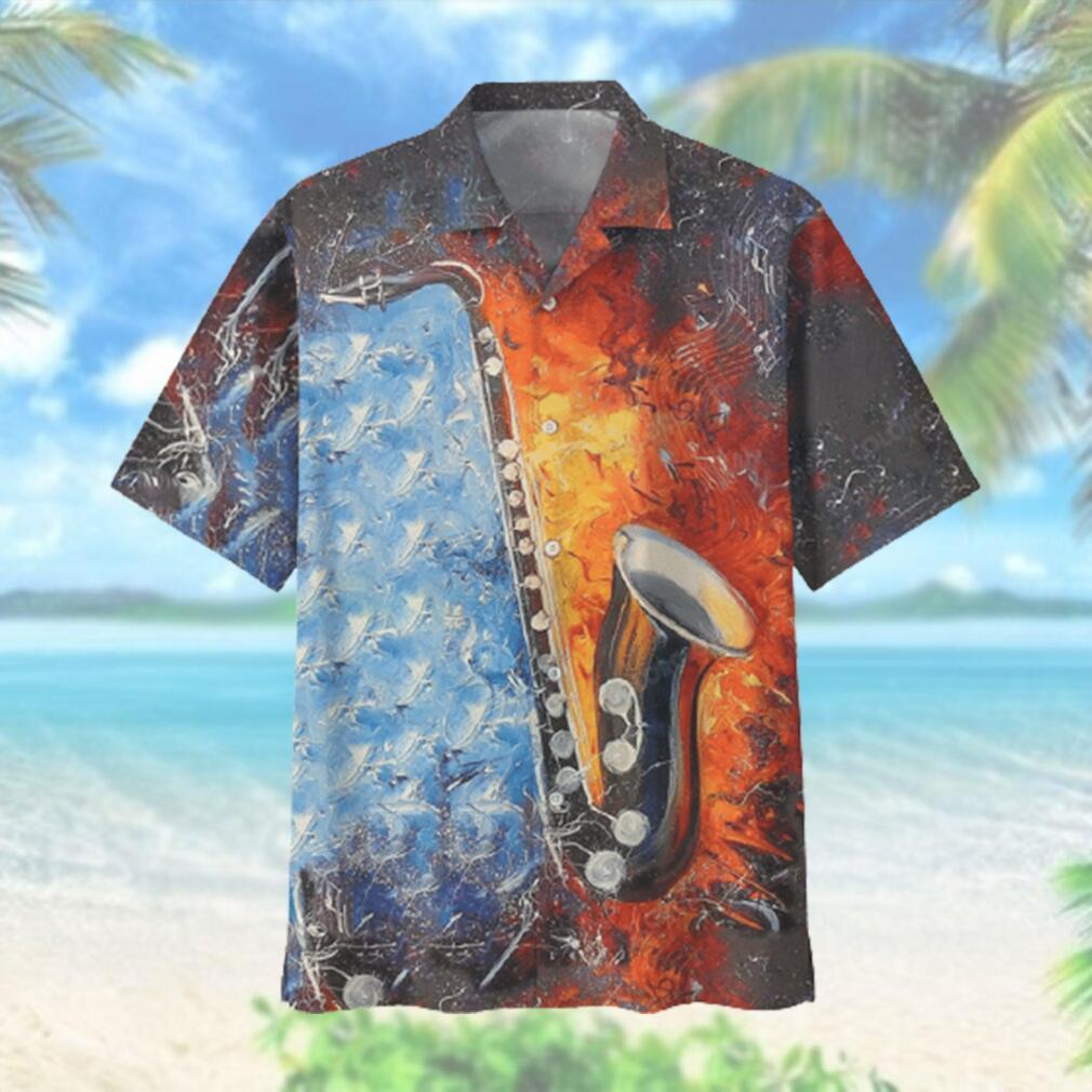 Love Saxophone Musical Instrument Hawaiian Hawaiian Shirt