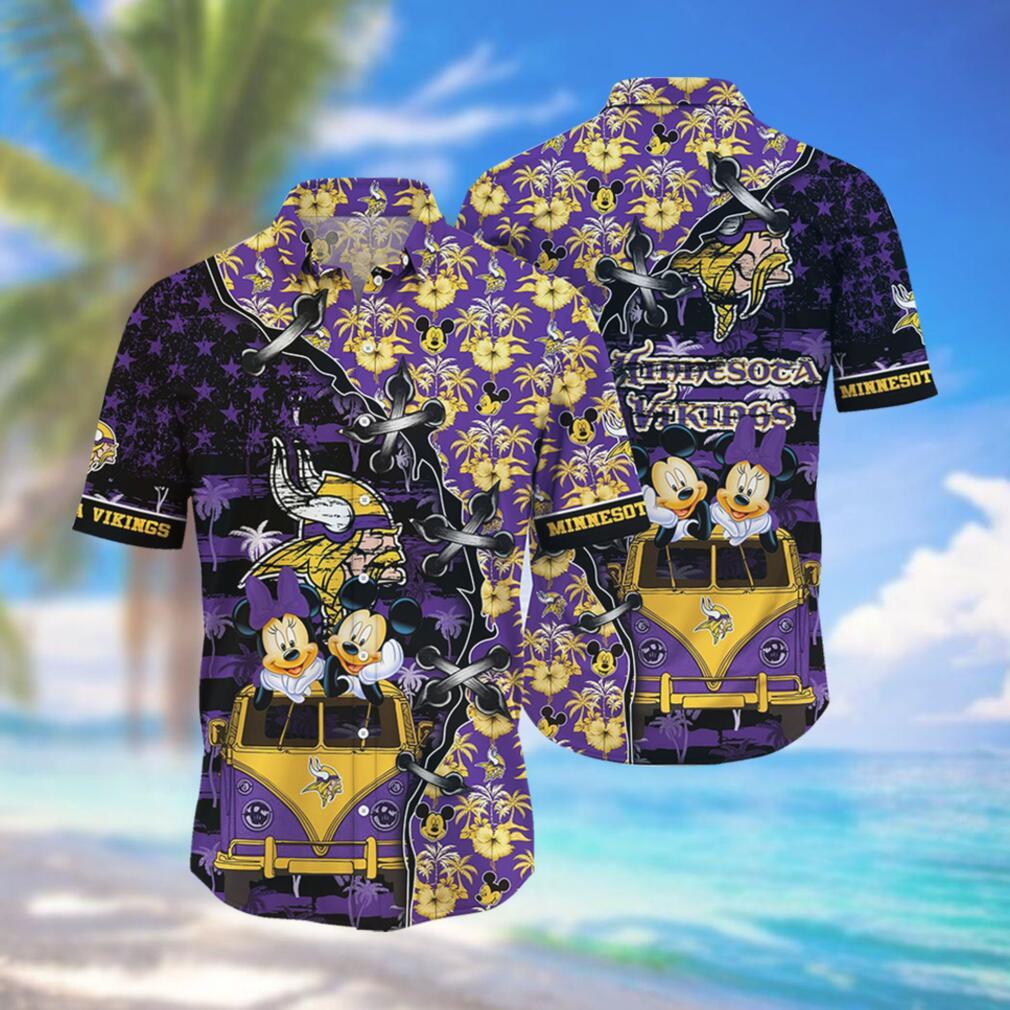 Minnesota Vikings NFL Hawaii Shirt Style Hot Trending 3D Hawaiian Shirt