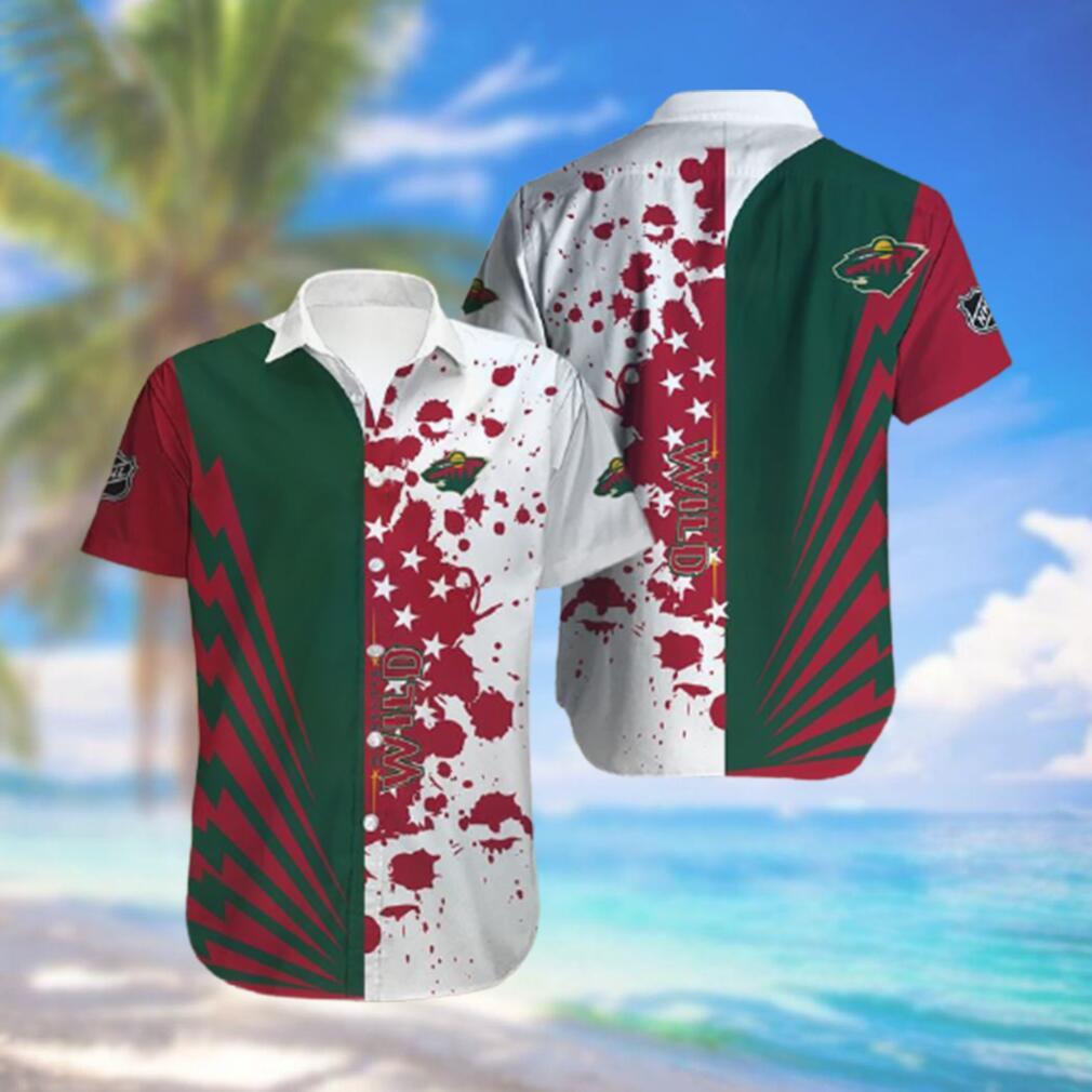 Minnesota Wild Limited Edition Button Down Hawaiian Shirt