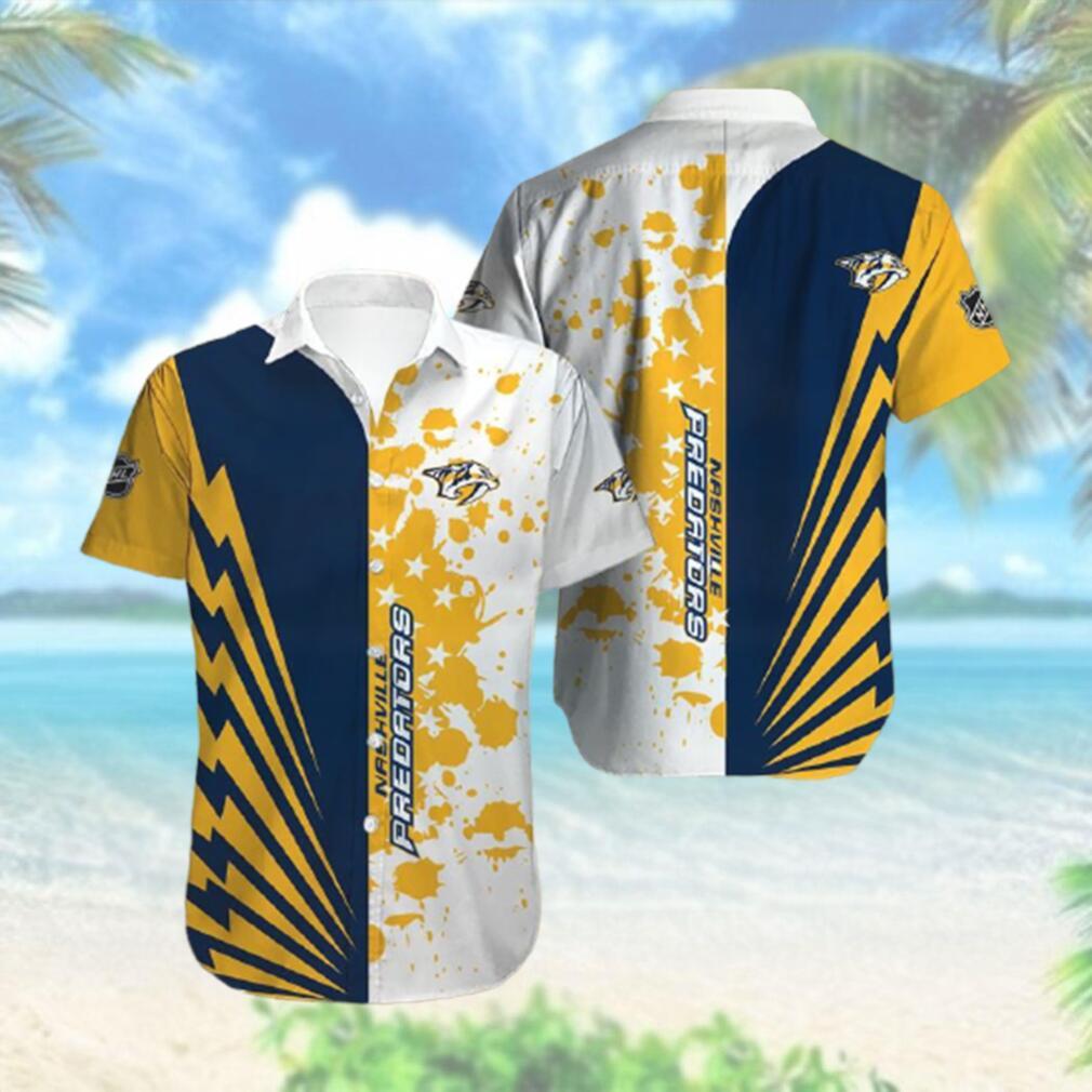 Nashville Predators Limited Edition Button Down Hawaiian Shirt