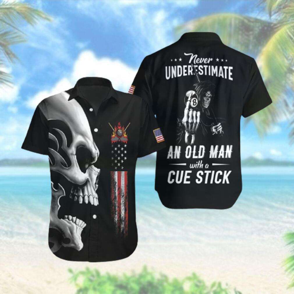 Never Underestimate An Old Man Billiards Hawaiian Hawaiian Shirt