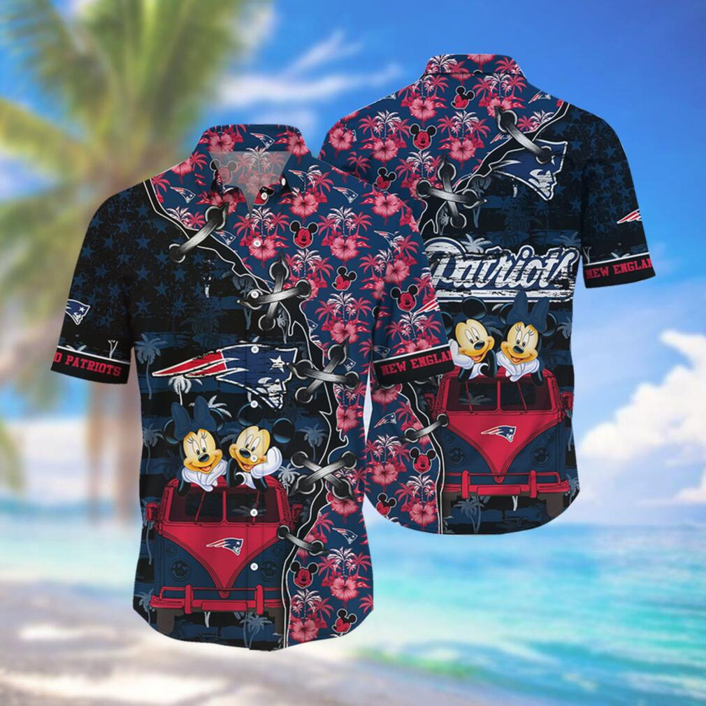 New England Patriots NFL Hawaii Shirt Style Hot Trending 3D Hawaiian Shirt