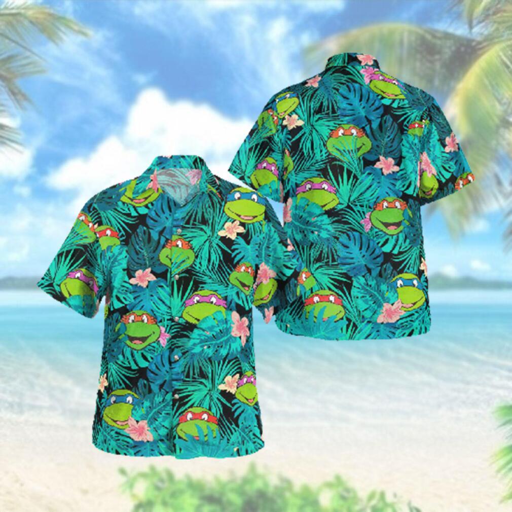 Ninja Turtles Face Floral Hawaiian Hawaiian Shirt
