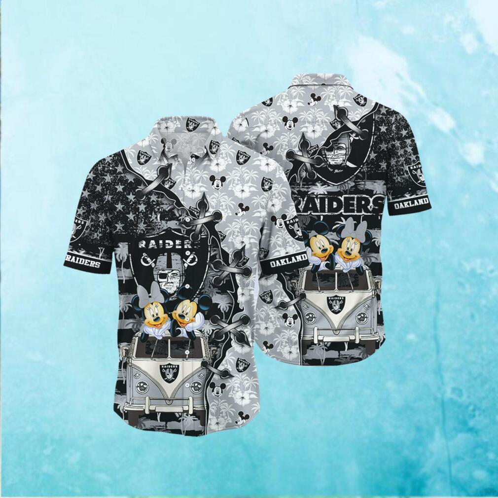 Oakland Raiders NFL Hawaii Shirt Style Hot Trending 3D Hawaiian Shirt
