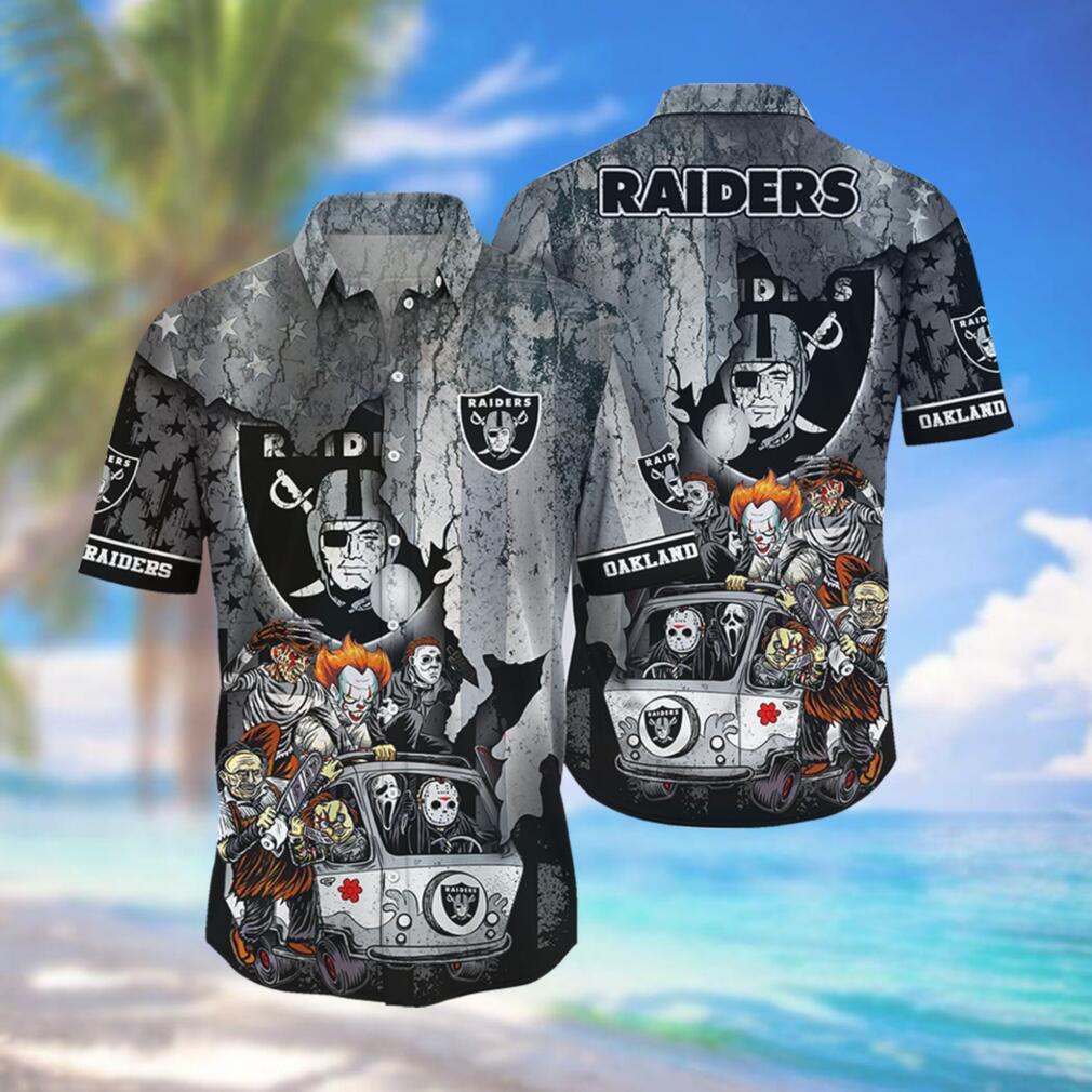 Oakland Raiders NFL Hawaiian Shirts