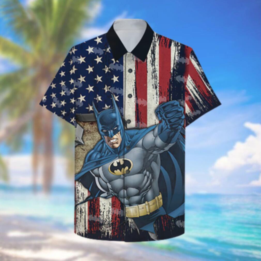 American Flag with Batman Hero Hawaiian Hawaiian Shirt