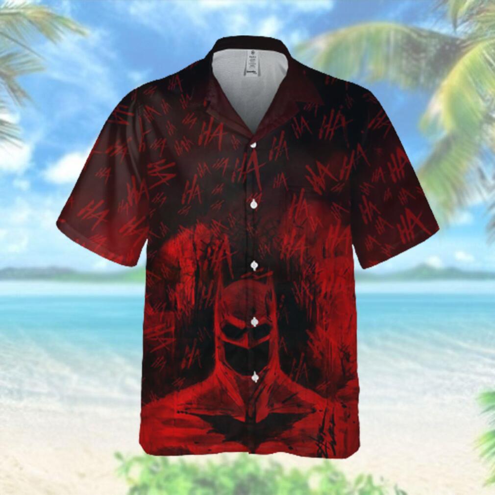 Red batman painting Hahaha Hawaiian Hawaiian Shirt