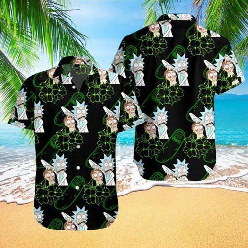 Rick Morty Hawaii Hawaiian Shirt Fashion Tourism For Men Women Shirt