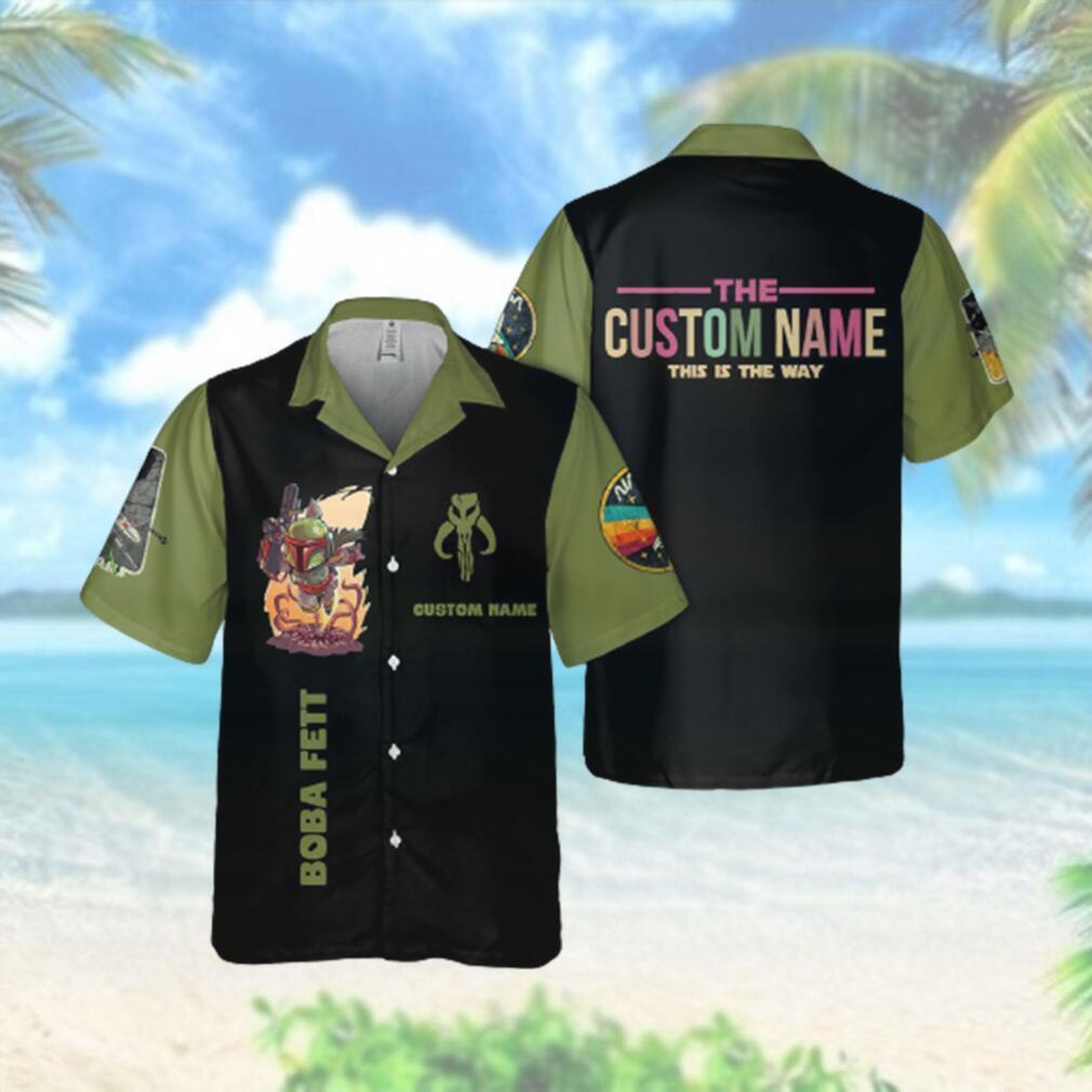 SW Fett Custom Name This is the way Hawaiian Hawaiian Shirt