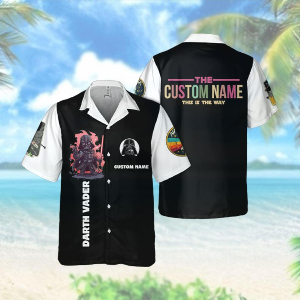 SW Vader Custom Name This is the way Hawaiian Hawaiian Shirt